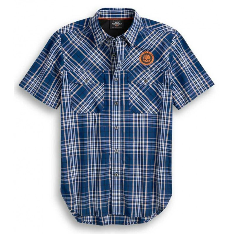 Men's Performance Vented Plaid S/S Shirt