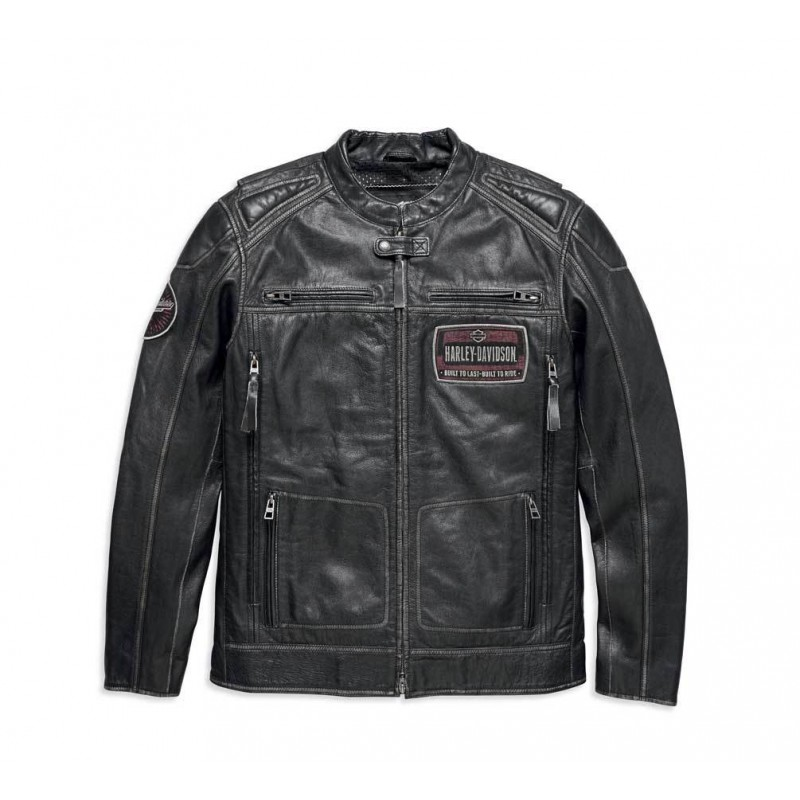 Men's Rustlers Genuine Leather Riding Jacket