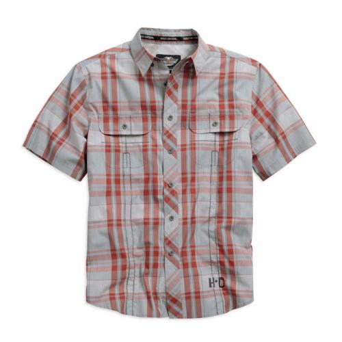 Men's Wrinkle-Resistant Plaid S/S Shirt