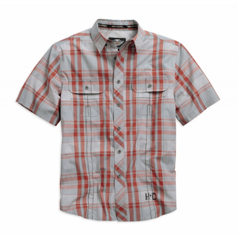 Men's Wrinkle-Resistant Plaid S/S Shirt