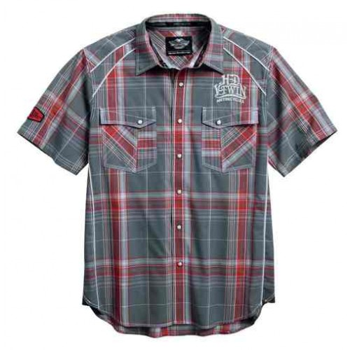 Men's SYN3 Contrast Plaid Woven S/S Shirt