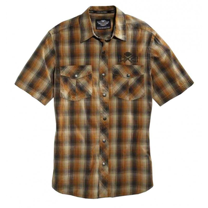 Men's Plaid Woven Cotton S/S Shirt