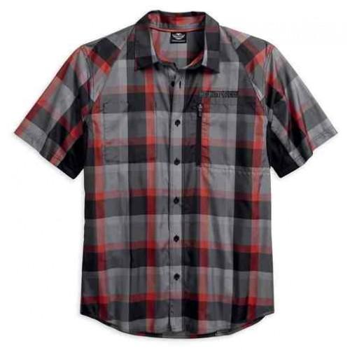 Men's H-D Performance Fast-Dry Plaid S/S Shirt