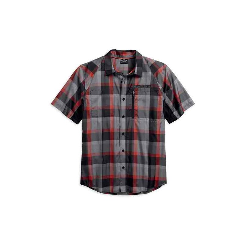 Men's H-D Performance Fast-Dry Plaid S/S Shirt