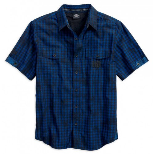 Men's Cloud Wash Plaid Woven S/S Shirt