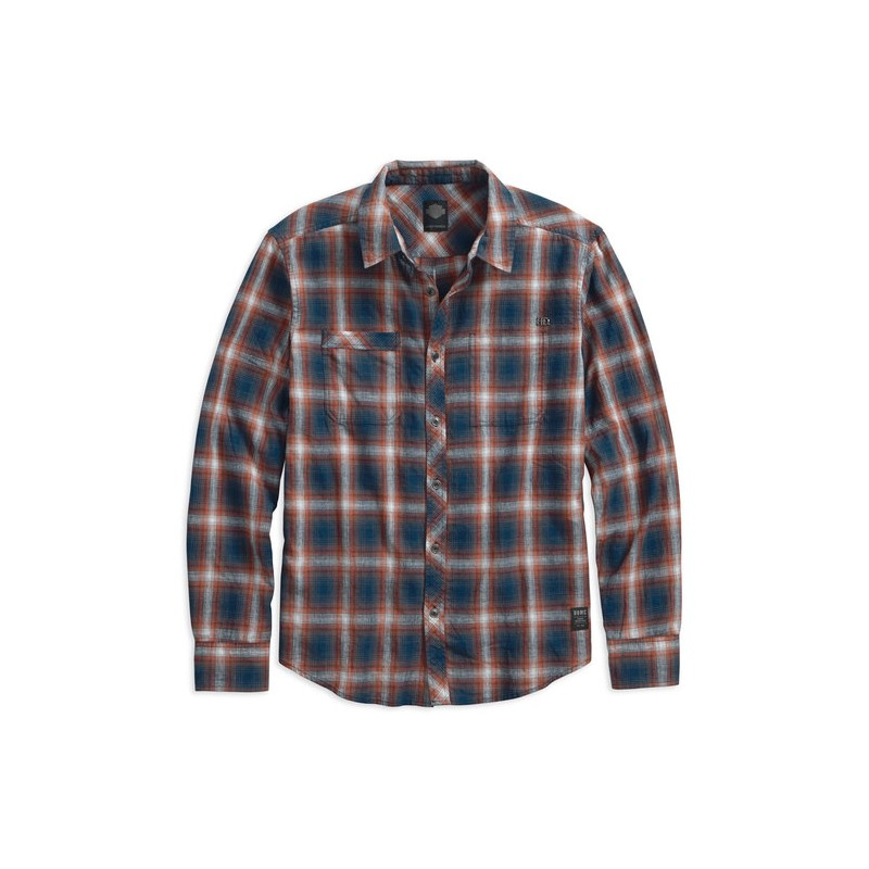 Men's Black Label Shadow Plaid L/S Shirt