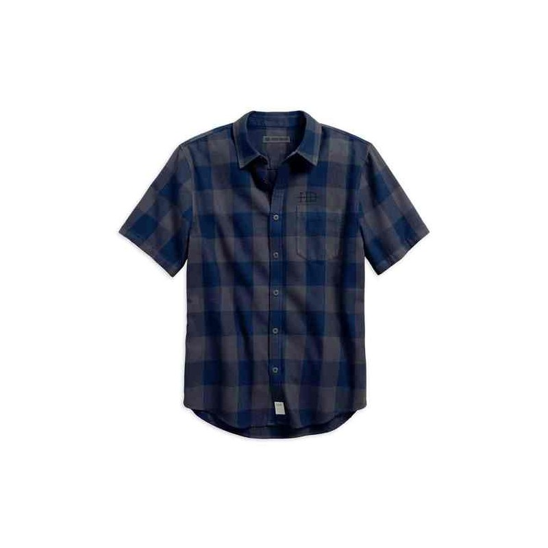 Men's Buffalo Check Plaid Slim Fit Button Up Shirt