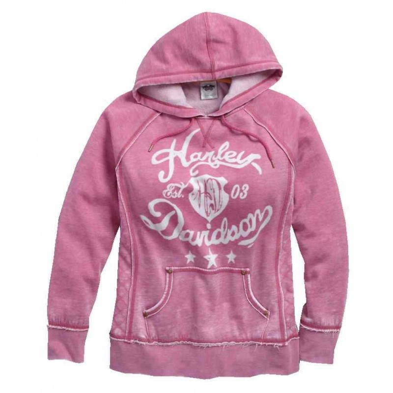 Women's Quilted Side Panel Pullover Hoodie