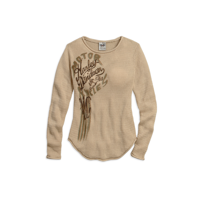 Women's Lightweight Loose Knit Long Sleeve Sweater