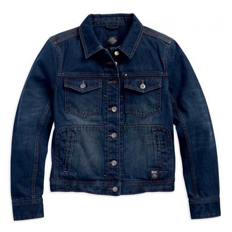 Women's Dark Washed Denim Casual Jacket