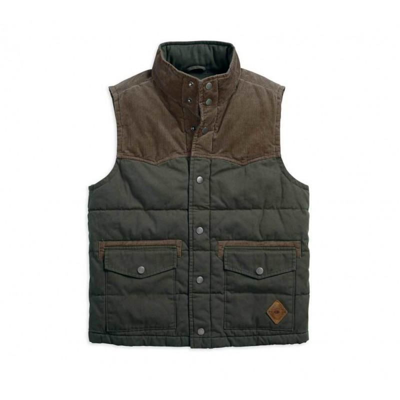 Men's Slim Fit Canvas & Corduroy Vest