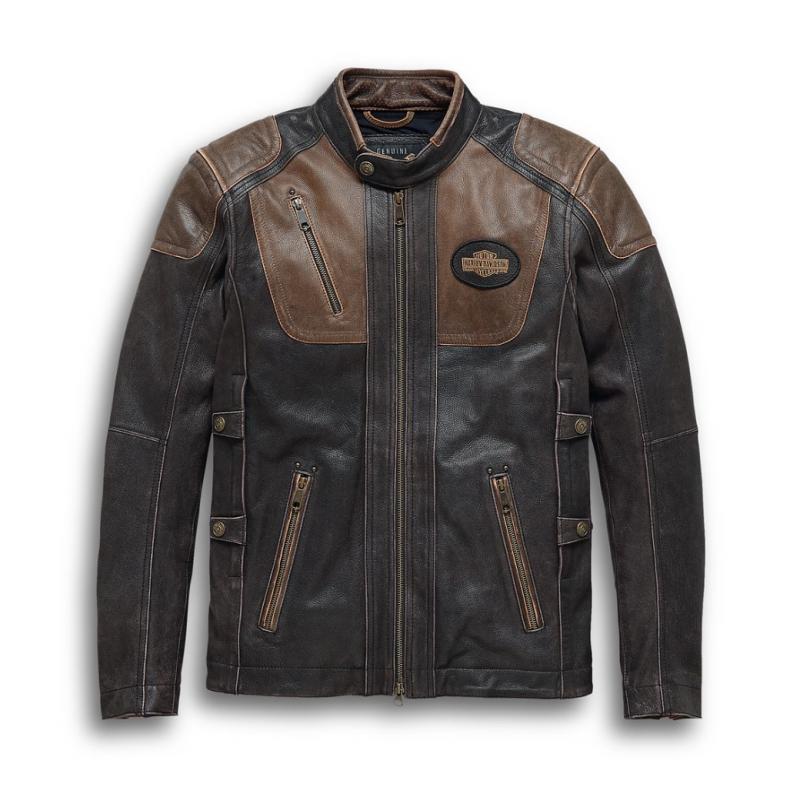 Harley-Davidson Men's Triple Vent System Trostel Leather Jacket